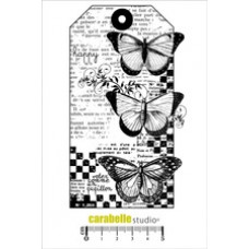 Carabelle Studio - Art Stamp -  Tag 3 Papillions
