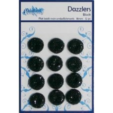Dazzlers - Flat Back Resin Embellishments Black