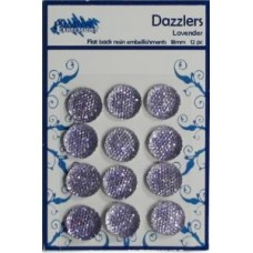 Dazzlers - Flat Back Resin Embelishments Lavender