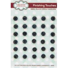 Creative Expressions - Finishing Touches Small Black Circle Dazzlers