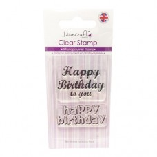 Dovecraft - Happy Birthday Clear Stamp