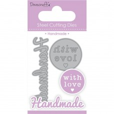 Dovecraft -  Handmade with Love Set Steel Cutting Die Set