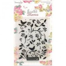 Dovecraft Painted Blooms A6 Embossing Folder