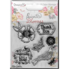 Dovecraft Painted Blooms Stamp Set DCSTP083