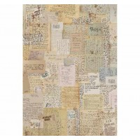 Stamperia A4 Rice Paper -  Background Notes