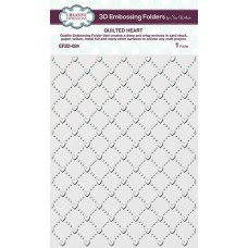 Creative Expressions - Sue Wilson - 3D Embossing Folder - Quilted Heart