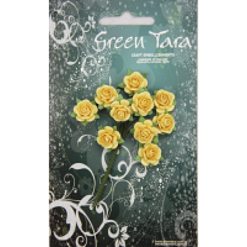 Green Tara - Roses - 1.5cm Yellow