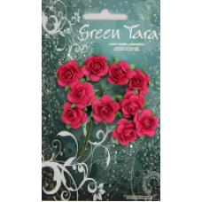 Green Tara - Roses - 2cm Hot Pink
