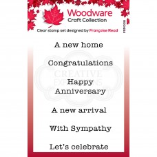 Woodware Clear Magic Mini Wordings Stamps