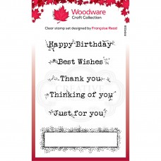 Woodware  Clear Singles Boxed Greetings Stamps