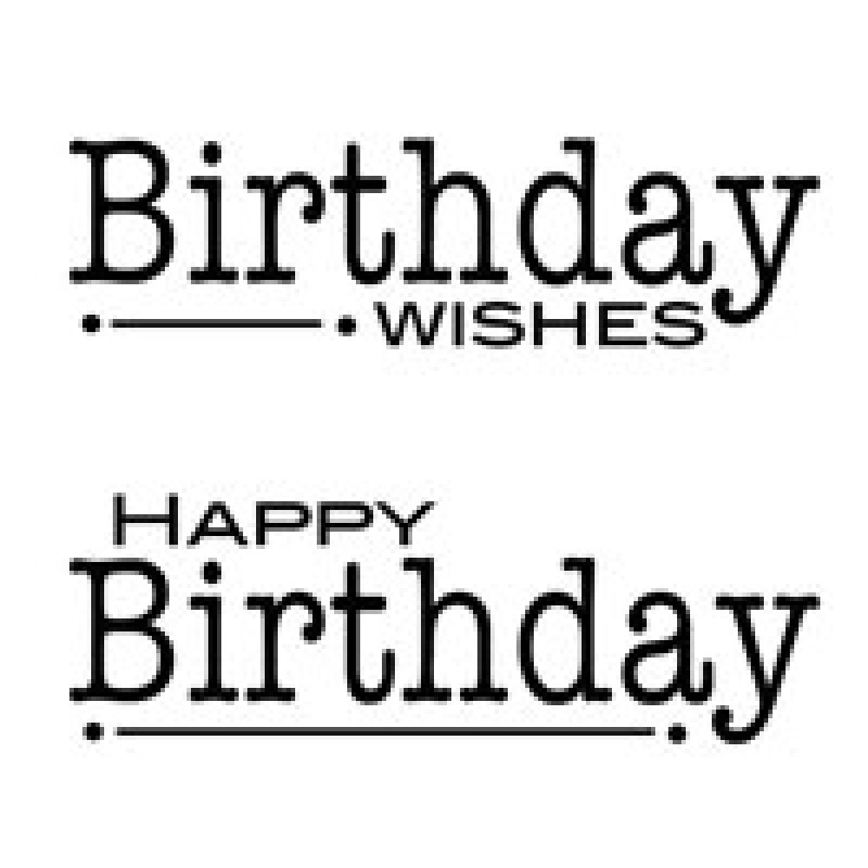 Woodware - Clear Magic Singles - Double Birthdays