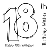 Woodware - Clear Magic - 18th Birthday Stamp Set