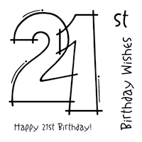 Woodware - Clear Magic - 21st Birthday Stamp Set