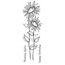 Woodware Clear Magic Tatty Daisies Stamp