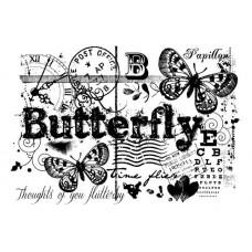 Woodware - Clear Magic - Butterfly Collage