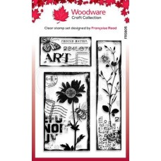 Woodware Craft Collection - Clear Stamp Set - Vintage Toppers