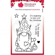 Woodware - Christmas Tree Gnome - Clear Stamp Set