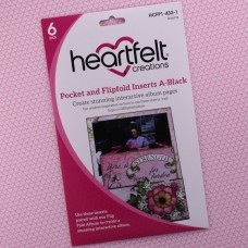 Hearfelt Creations - Pocket and Flipfold Inserts A - Black