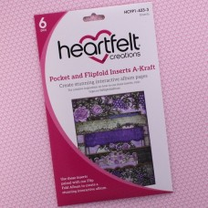 Hearfelt Creations - Pocket and Flipfold Inserts A - Kraft