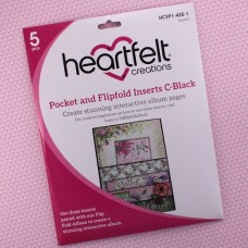 Hearfelt Creations - Pocket and Flipfold Inserts C - Black
