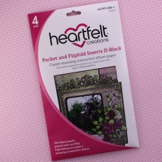 Hearfelt Creations - Pocket and Flipfold Inserts D - Black