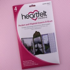 Hearfelt Creations - Pocket and Flipfold Inserts D - Kraft