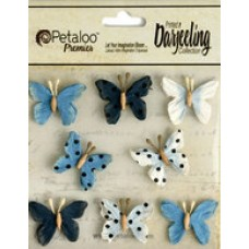 Petaloo - Darjeeling - Mini Butterflies - Teastained Blue