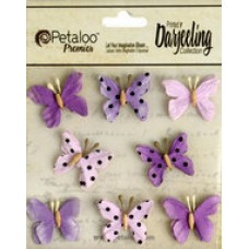 Petaloo - Darjeeling - Mini Butterflies - Teastained Purple