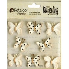 Petaloo - Darjeeling - Mini Butterflies - Teastained Cream