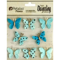 Petaloo - Darjeeling - Mini Butterflies - Teastained Teals