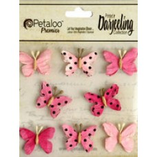 Petaloo - Darjeeling - Mini Butterflies - Teastained Pink