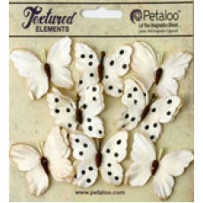 Petaloo - Darjeeling - Butterflies - Teastained Cream