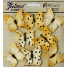 Petaloo - Darjeeling - Butterflies - Teastained Yellow