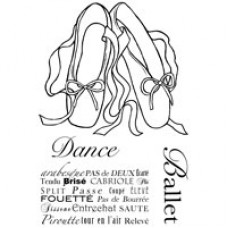 Woodware - Clear Magic - Ballet Pumps Stamps