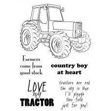 Woodware - Clear Magic - Tractor Stamp Set