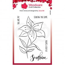 Woodware Clear Magic Lily Sketch Stamps