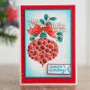 Woodware Craft Collection Clear Stamp Set - Bubble Bauble and Bow