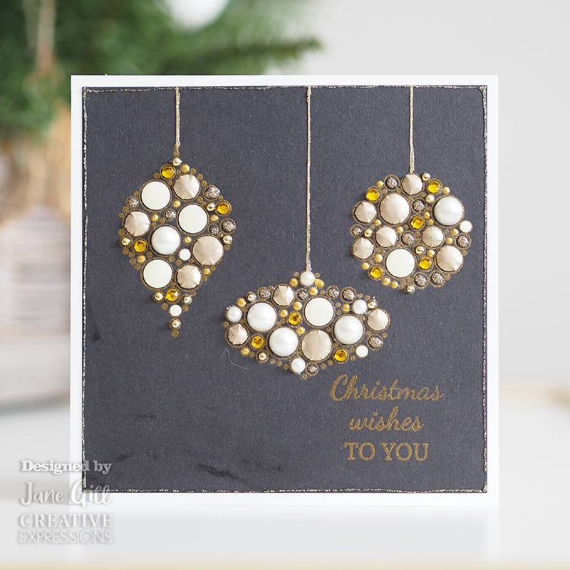 Woodware Craft Collection Clear Stamp Set - Bubble Mini Baubles