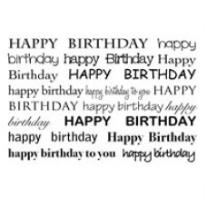 Woodware - Clear Magic singles - Birthday Textbox
