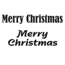 Woodware - Clear Singles - Merry Christmas Stamps