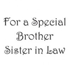 Woodware Clear Magic For a Special Brother Sister in Law Stamp