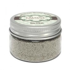 Creative Expressions - Metallic Micro Beads - Silver