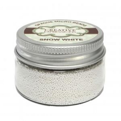 Creative Expressions - Metallic Micro Beads - Snow white