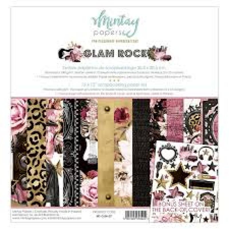 """Mintay Papers - Glam Rock 12 x 12"""" Scrapbooking Paper Set"""