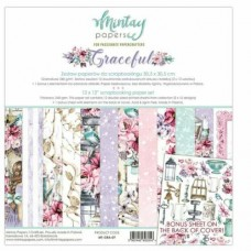 """Mintay Papers - Graceful 12 x 12"""" Scrapbooking Paper Set"""