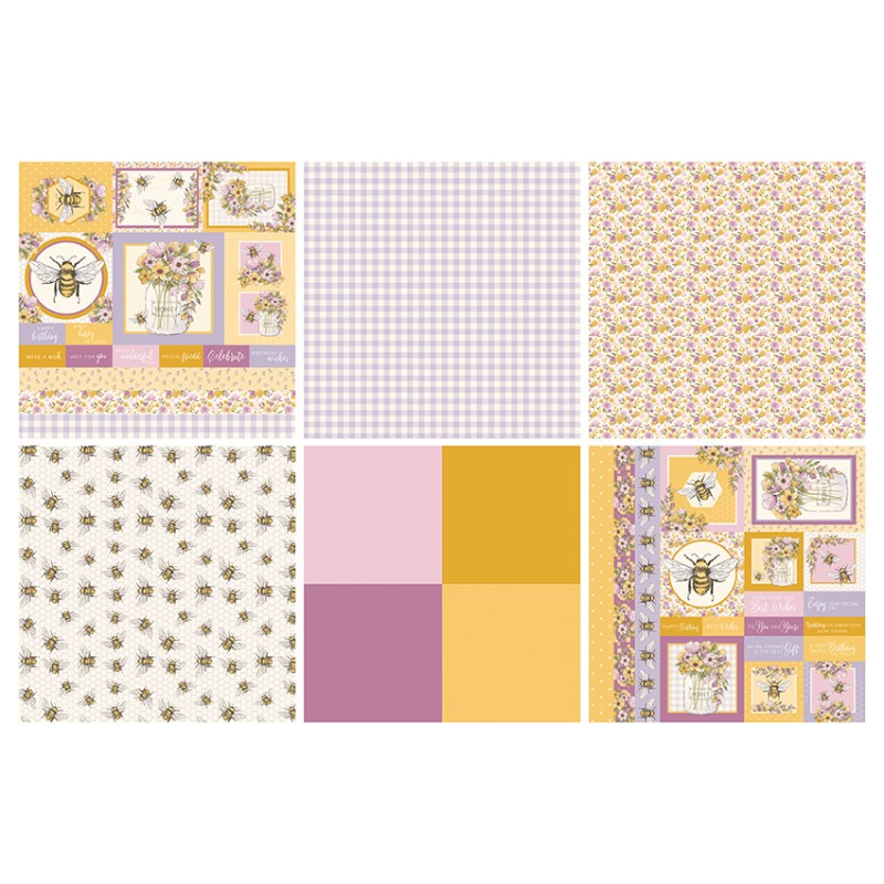 "The Paper Boutique Bumblebee's Dance Card Making Pad 12"" x 12"""