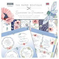 The Paper Boutique - Summer In Provence - 8 x 8 Paper Pad and Toppers