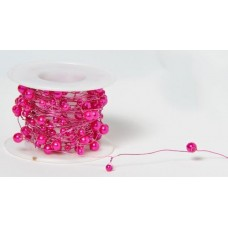 Pearl Beaded Wire - Hot Pink