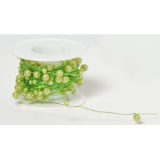 Pearl Beaded Wire - Lime
