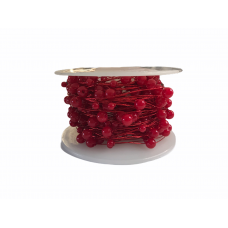 Pearl Beaded Wire - Red